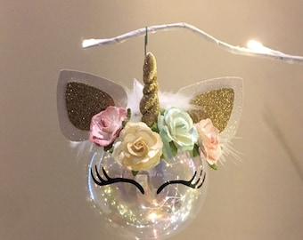 Unicorn Ornament ~ Vintage Chic Style