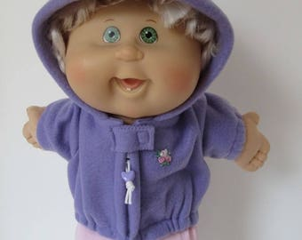 """14"""" Baby Cabbage Patch Violet Hooded Jacket"""