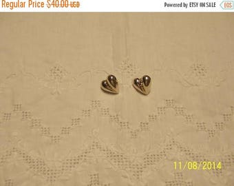 TWICE A YEAR, 25% Off Vintage Hollow Heart earrings. Sterling Silver.