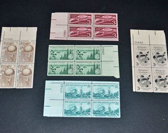 US 5 Blocks of 4 mint inclueds New York Worlds Fair Religious Freedom