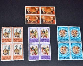 Grenada 8 Blocks of 4 Mint