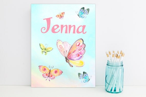 Butterfly Sky Personalized Folder, School Supplies, Back to School, Monogrammed Folder, Custom Pocket Folder