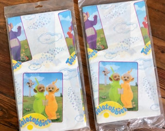 Vintage 90s Teletubbies party paper tablecover - 2 covers