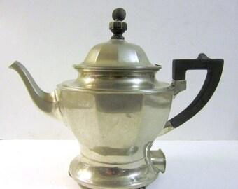 Summer Sale Vintage Silverplate Electric Teapot
