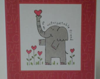 Friendship LOVE Valentine Note Card
