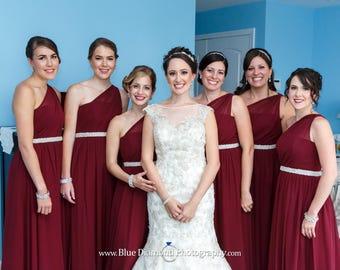 Bridal Sash, Wedding Sash, Bridal Belt, Crystal Bridal Sash, Rhinestone Belt, Jeweled Belt, Wedding Gown Belt, Bridesmaids Sash Crystal Sash