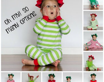 Personalized Christmas Pajamas, Family Christmas Pajamas, Monogrammed Christmas Pajamas, Personalized Pajama Set, Matching Pjs PREORDER