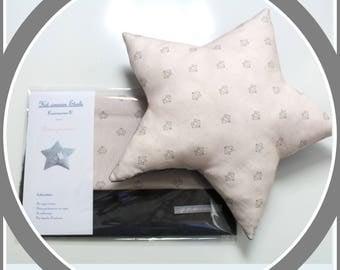 Sewing kit just'A sewn cushion Etoile -Patron pre-drawn and padding
