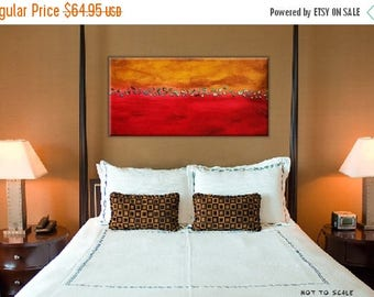 50% off SALE Clearance Sale:Mixed Media Warm Colors Abstract. Original Handpainted Acrylic Thick 3d Texture Impasto Palette Knife Painting.