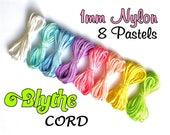 Blythe Pull Cord - Pastel Blythe Doll PullString & Sleepy Eye Cord - 100% Nylon - 8 Color Set