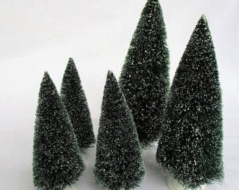 20% Summer SALE Collection Dept 56 Bottle Brush Christmas Trees (5)
