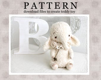 PATTERN Download to create teddy like Elefant Angel 7 inch