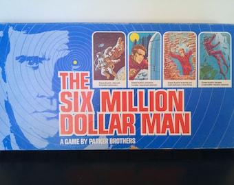 Vintage Six Million Dollar Man Board Game 1975 Complete