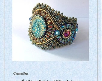 Summer sale -15% DIY , KIT, Pattern,  Tutorial and materials,  Bead embroidery ,Beading pattern , Instructions and materials , Pirate's Trea