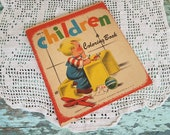 40s Unused Coloring Book - Vintage Entirely Unused Antique Book For Children, Unique Birthday Gift, Books By Samuel Lowe, Vintage Kids Gift