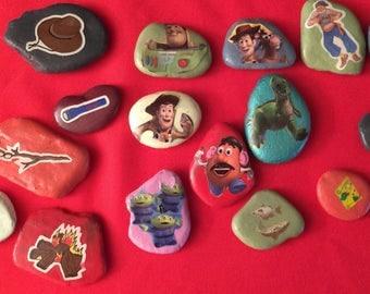 Set of sixteen assorted story stones