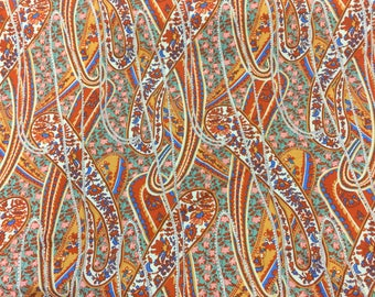 Rowan fabric Liberty Paisley in swan By The Half Metre