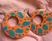 Reserved for Lauren - custom painted earrings