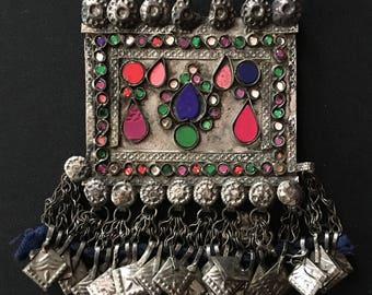 Vintage Afghanistan Kuchi Nomad PENDANT Amulet Boho Gypsy Tribal Fusion Belly Dance Uber Kuchi