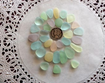 FREE SHIPPING Small & Medium Pastel genuine sea glass PB-J16-32-E