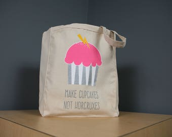 Make Cupcakes not Horcruxes Tote Bag