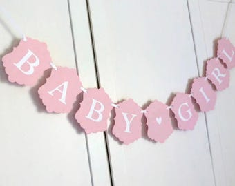 Baby Girl Banner - Pink Baby Shower Banner - New Baby Girl - Welcome Baby
