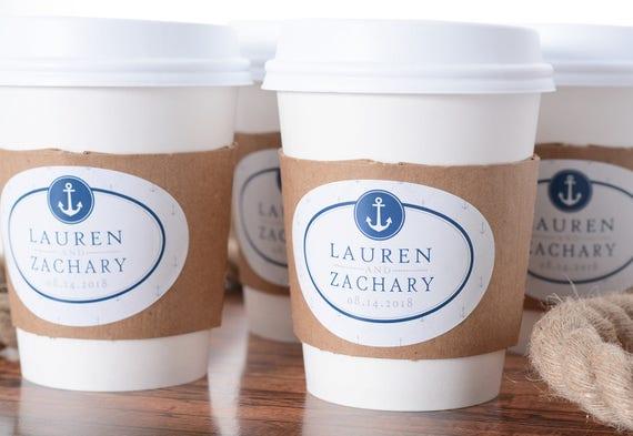 Order custom paper coffee cups wedding