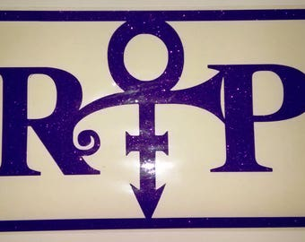 Prince - Rest in Peace License Plate - RIP License Plate - Prince Symbol License Plate