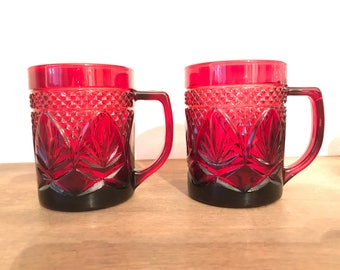 Cristal D'Arques Durand Luminarc Ruby Red Mugs - Set of 10