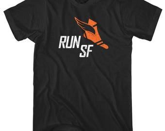 Run San Francisco V3 T-Shirt - Men and Unisex - XS S M L XL 2x 3x 4x - San Francisco Running Shirt, San Francisco Jogging Shirt, Run SFO Tee