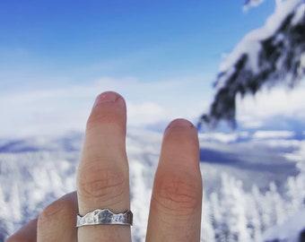 Mountain Range Ring Band