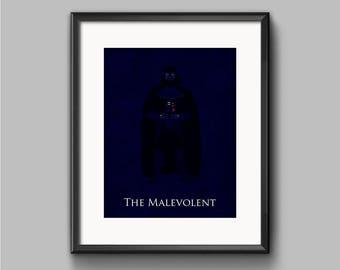 Star Wars The Empire Strikes Back - The Malevolent - Darth Vader Art Print - poster, empire, sith, star wars, minimalist