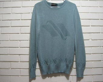 80's men's dusty blue pullover sweater size M