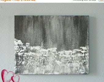 CLEARANCE Black and White Original Abstract Painting--Minimalist Art, Contemporary Home Decor, Modern Office Art, Gift for Him or Her
