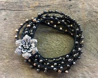 Twilight  Garden: Versatile crocheted necklace / bracelet / belt / headband