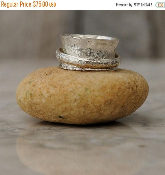 ON SALE Sterling Silver Spinner Ring