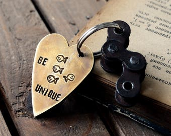 Be unique fishes keychain, Motorcycle Gift, Motocross Racing ,Husband ,Son Graduation Ceremony, birthday gift for him or her,Personalized