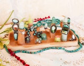 Large Cactus Ring & Jewelry Tray, handmade ceramic ring and jewelry display, southwestern cactus ring dish