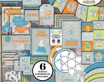 Science Party | Science Birthday Party | Science Birthday | Mad Science Party | Mad Scientist Party | Science Decorations | Printable