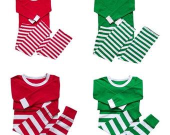 Personalized Christmas Pajamas, Matching Adult & Kids Christmas Pjs, Monogrammed Christmas Pajamas, Christmas Gift, Monogram PJ