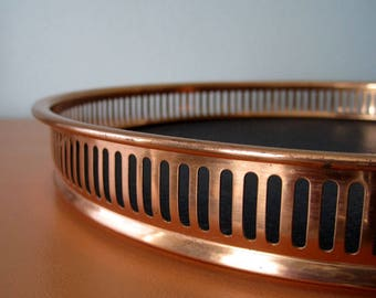 Vintage Copper Bar Tray, Serving Tray, Coppercraft Guild