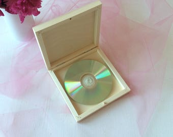 10 x single CD / DVD wooden cases / wedding DVD box / packaging for photographers