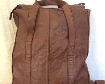 15% OFF3DAYSALE Genuine Vintage Banana Republic Brown Leather Satchel Bag