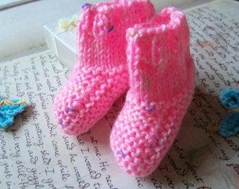 Hot Pink Baby Booties.