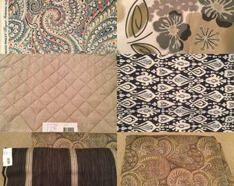 Pick a fabric 1 yard x 4 or more yards each