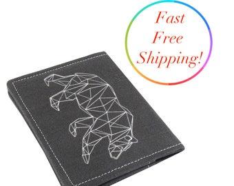 Geometric Bear Wallet, Buffalo Wallet, Fox Wallet, Front Pocket Wallet, Travel Wallet, Minimalist Wallet, Credit Card Wallet