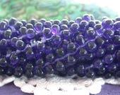 1 Strand 100 Beads 6 x 4mm Czech Glass Teardrop Beads, Czech Glass Fringe Beads, Tanzanite Teardrop Beads, Small Purple Teardrops,   CZ-641