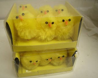 """Lot of 12 Miniature 1.5"""" CHICKS - Easter Craft Supply"""