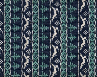 Fat Quarter, Winter Fun by Melissa Burt for Connecting Threads, Blue Fabric, Teal Fabric, 01704