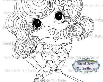 INSTANT DOWNLOAD Digital Digi Stamps Big Eye Big Head Dolls Bestie New Bestie Glam Girl img612 Bestie My Besties By Sherri Baldy